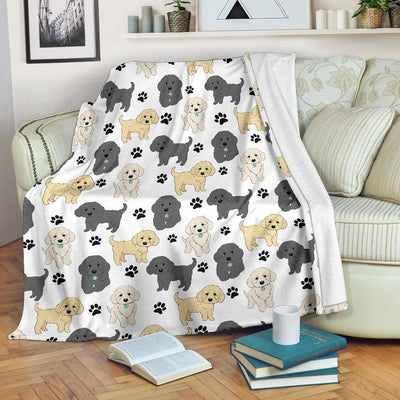 Labradoodle Paw Blanket