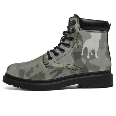 Staffordshire Bull Terrier Camo All-Season Boots