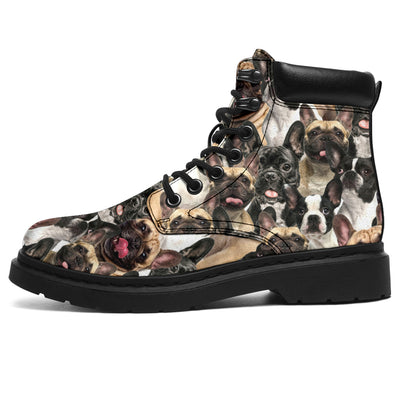 French Bulldog Full Face All-Season Boots