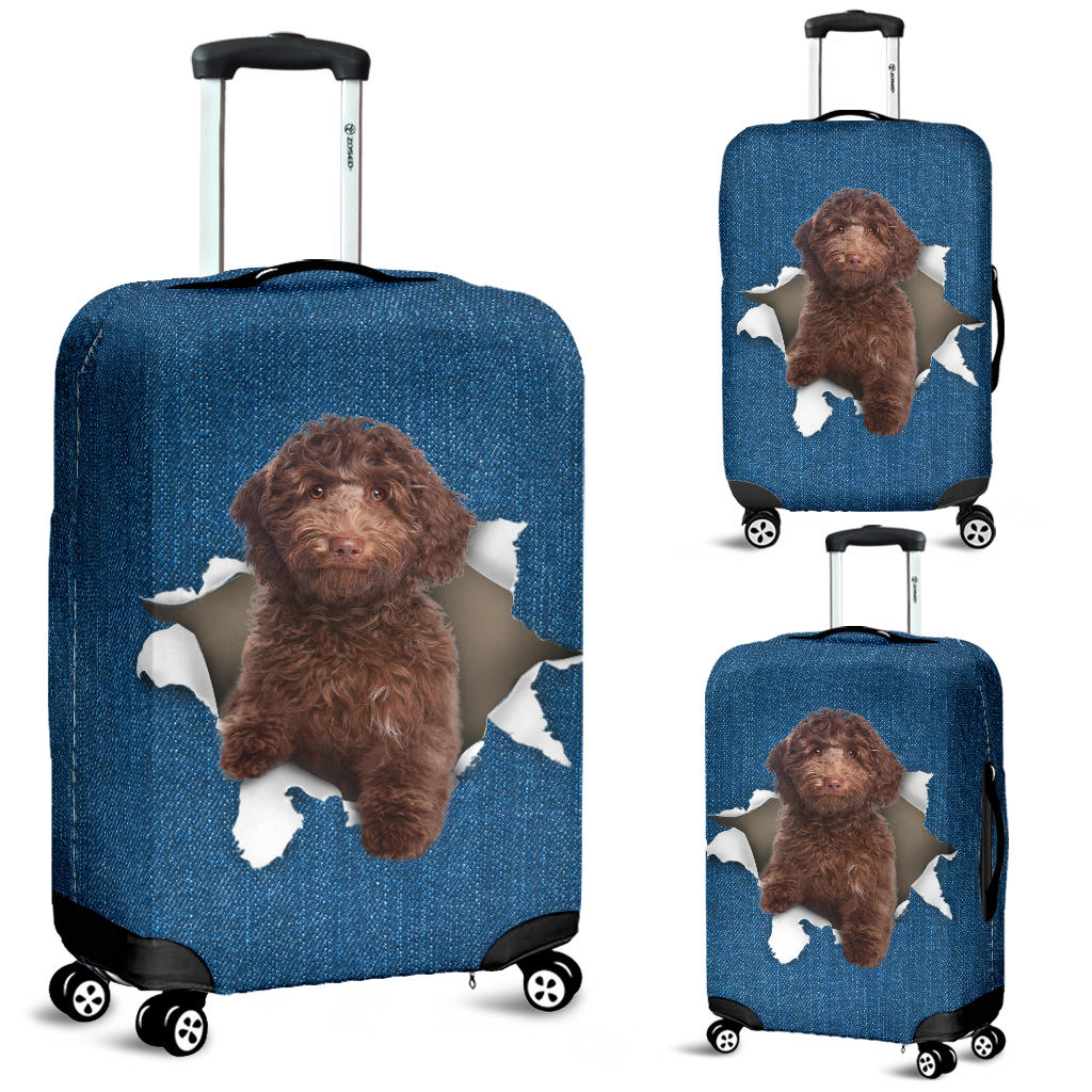 Australian Cobberdog Torn Paper Luggage Covers