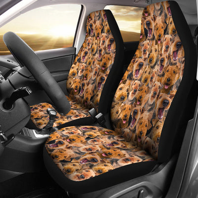 Airedale Terrier Full Face Car Seat Covers
