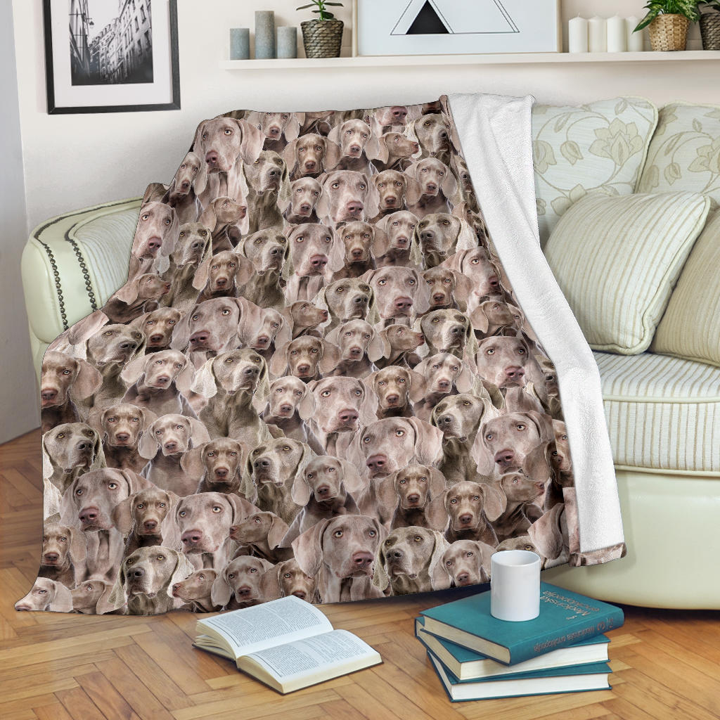 Weimaraner Full Face Blanket
