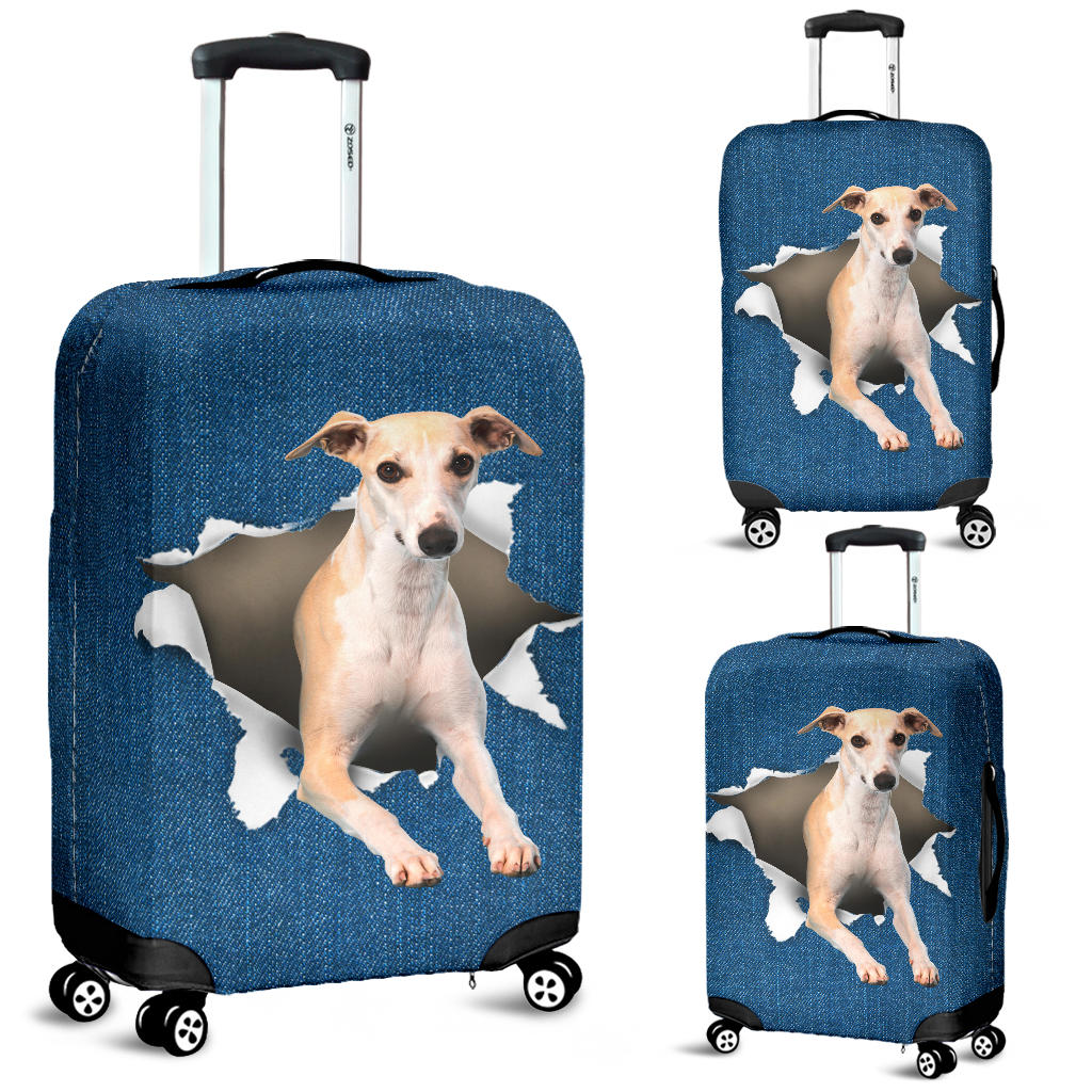 Sighthound Torn Paper Luggage Covers