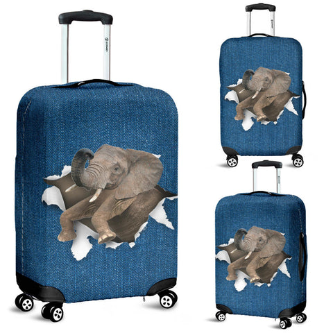 Elephant Torn Paper Luggage Covers