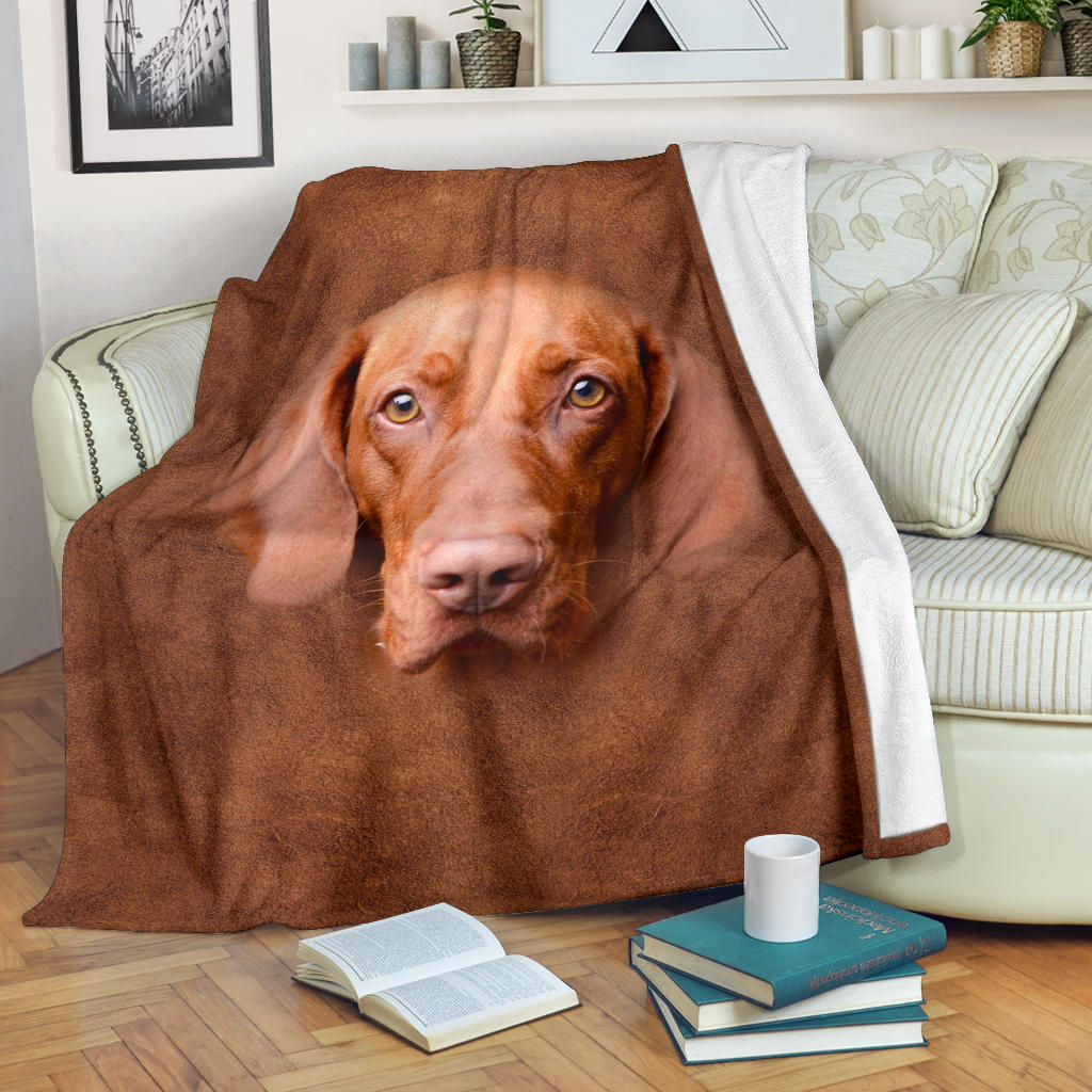 Vizsla Face Hair Blanket