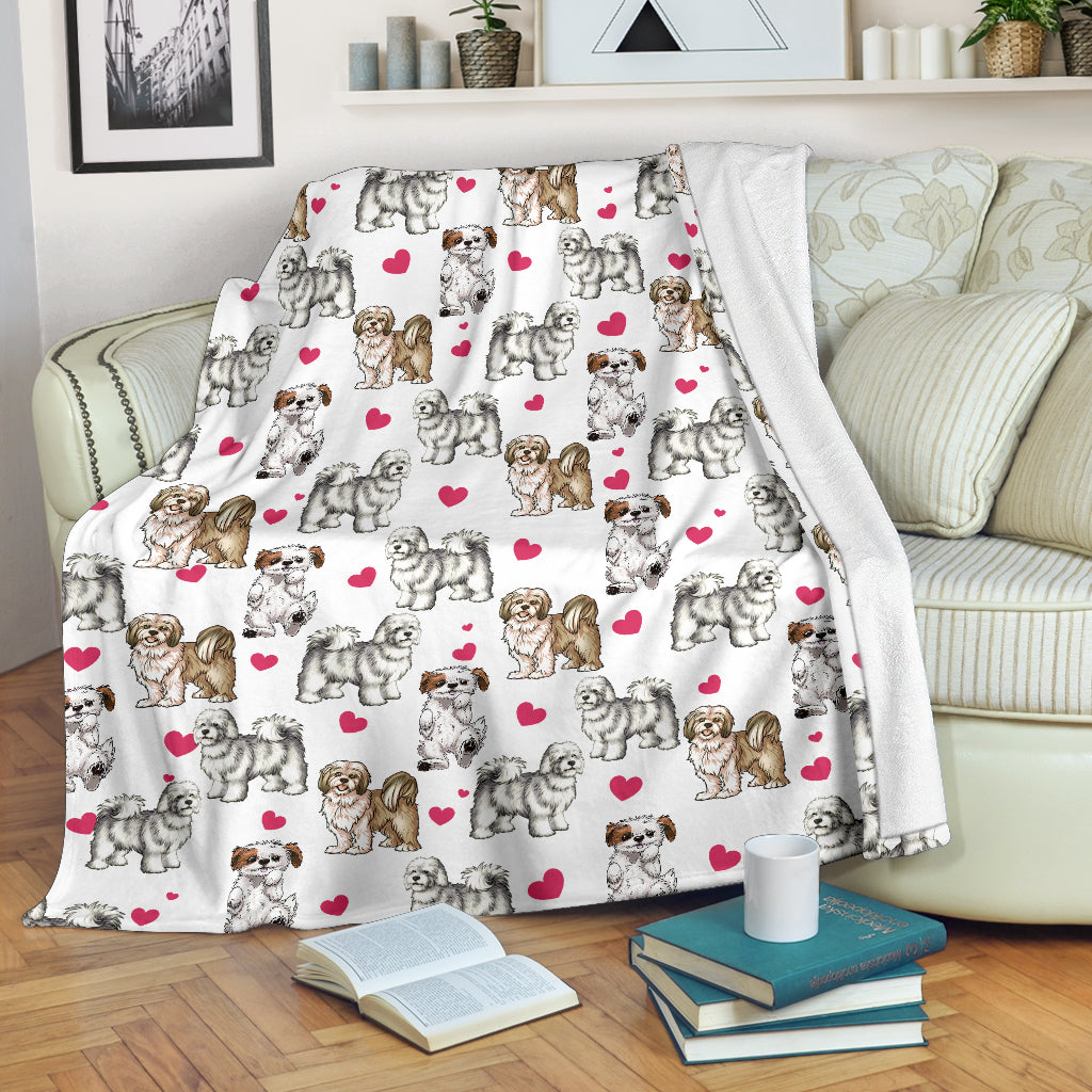Lhasa Apso Heart Blanket