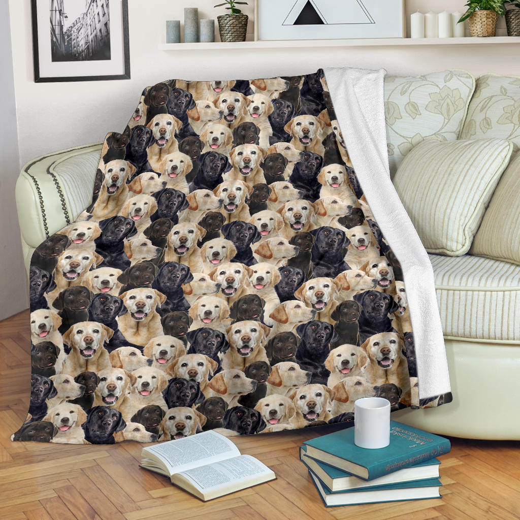 Labrador Retriever Full Face Blanket