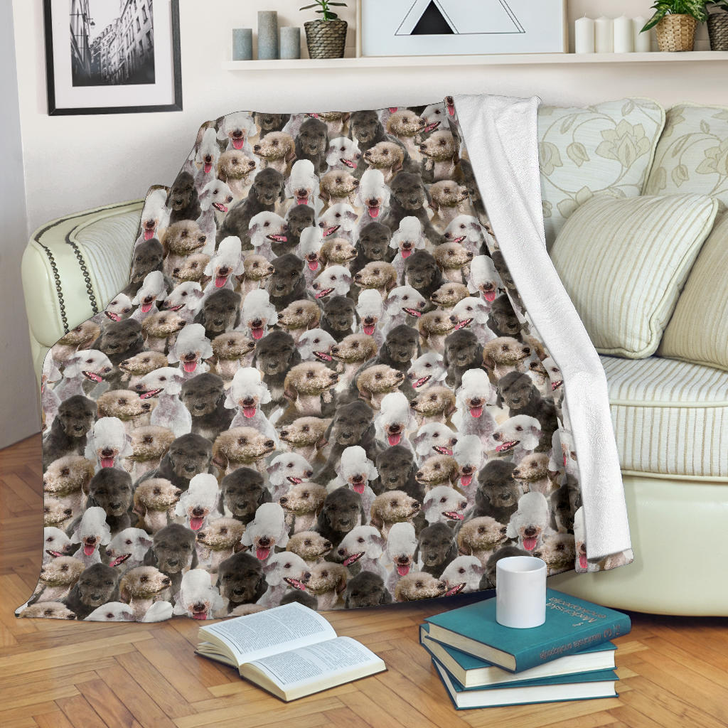 Bedlington Terrier Full Face Blanket