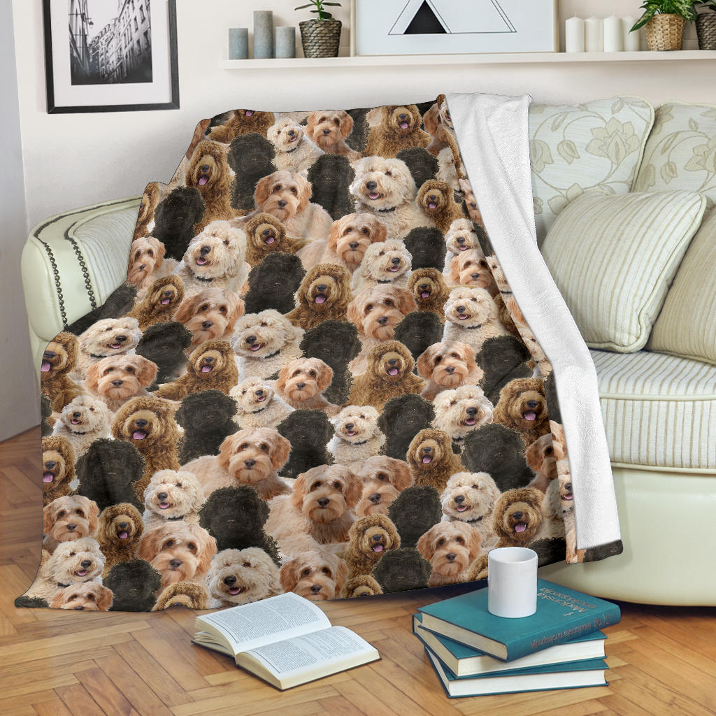 Labradoodle Full Face Blanket