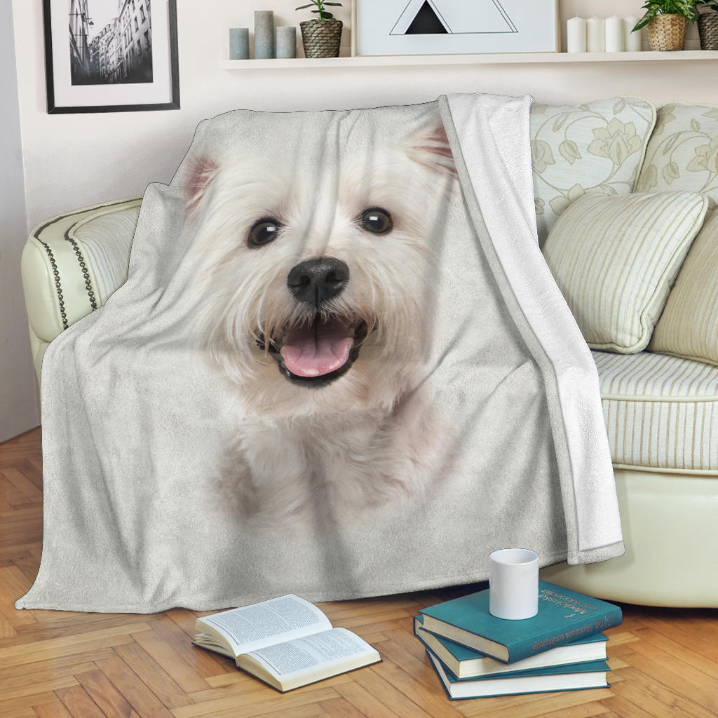 Maltese Face Hair Blanket