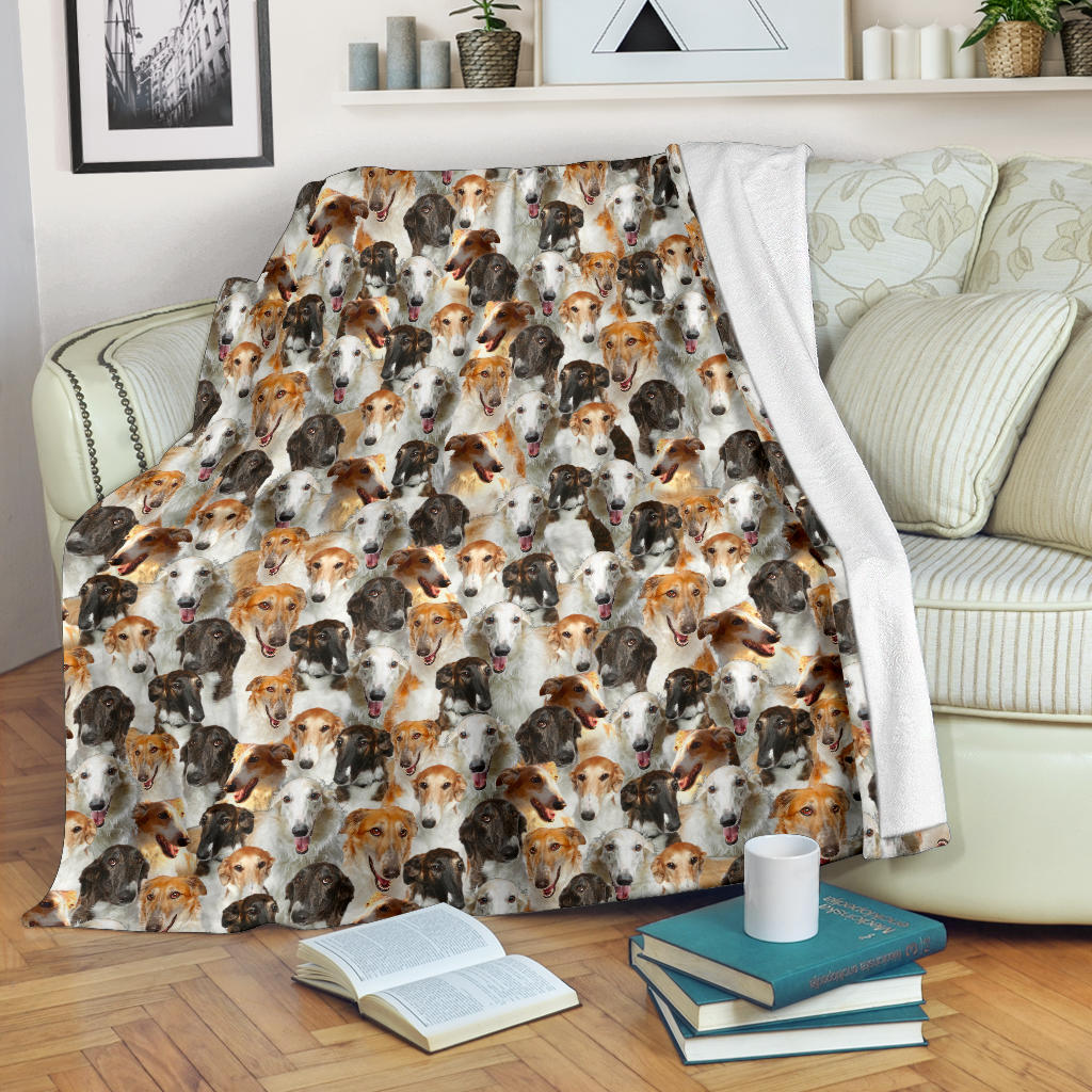 Borzoi Full Face Blanket