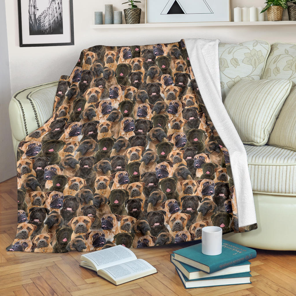Bullmastiff Full Face Blanket