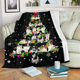 Japanese Chin Christmas Tree Blanket