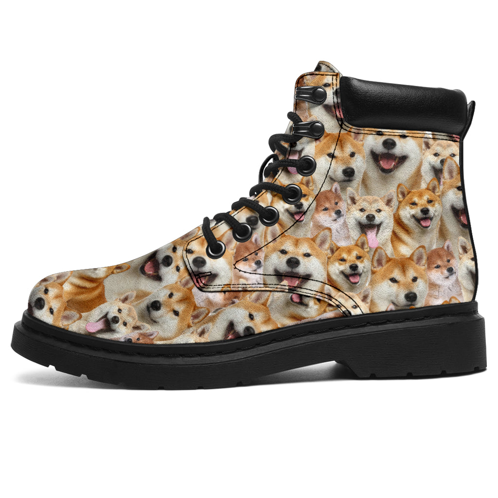 Shiba Inu Full Face All-Season Boots