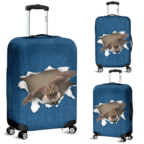 Owl Torn Paper Luggage Covers