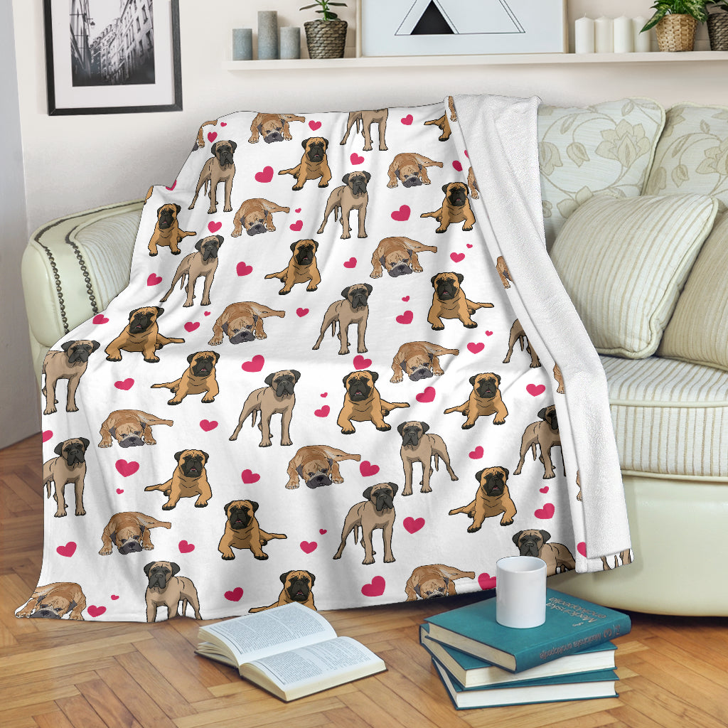 English Mastiff Heart Blanket