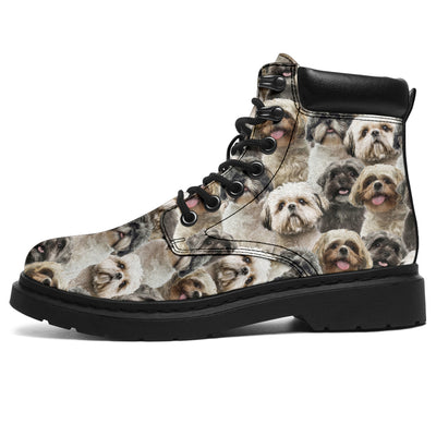 Shih Tzu Full Face All-Season Boots