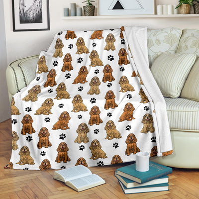 English Cocker Spaniel Paw Blanket