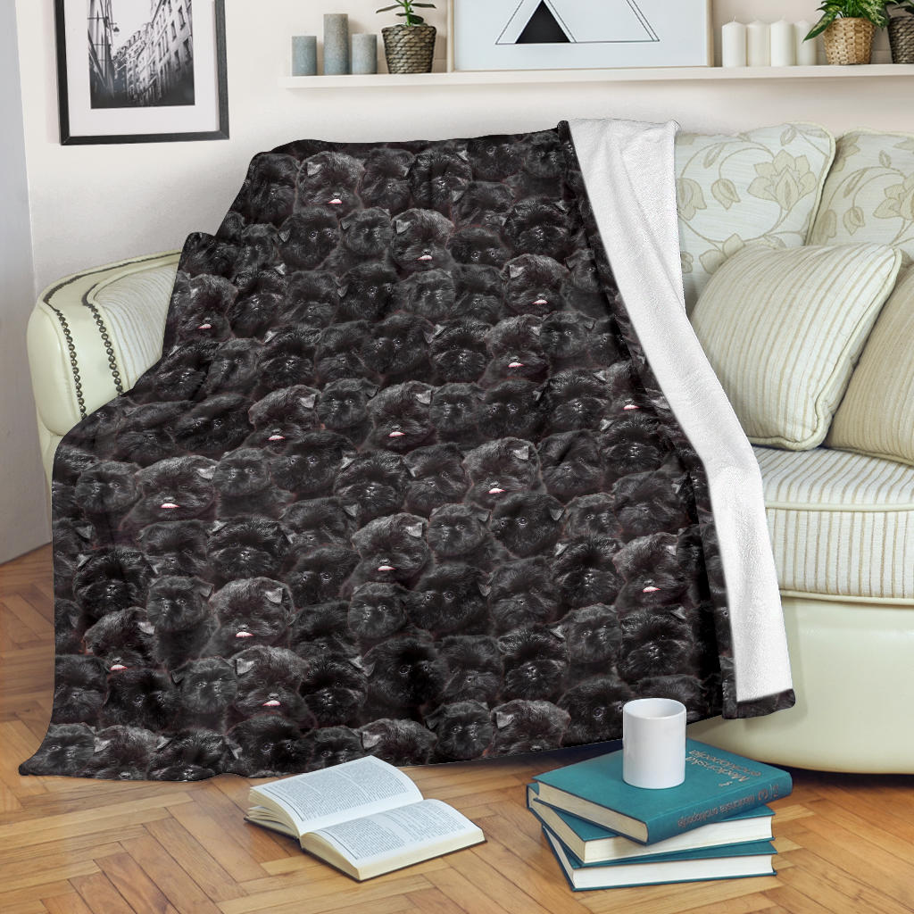 Affenpinscher Full Face Blanket