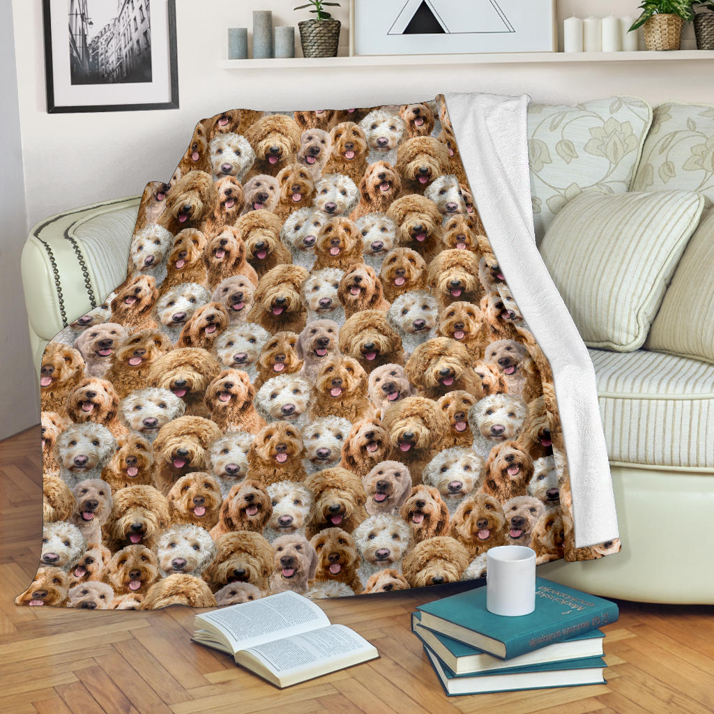 Goldendoodle Full Face Blanket