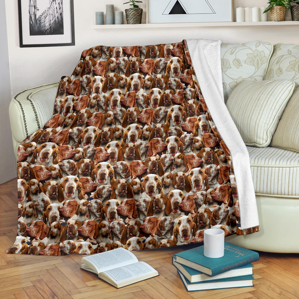Bracco Italiano Full Face Blanket