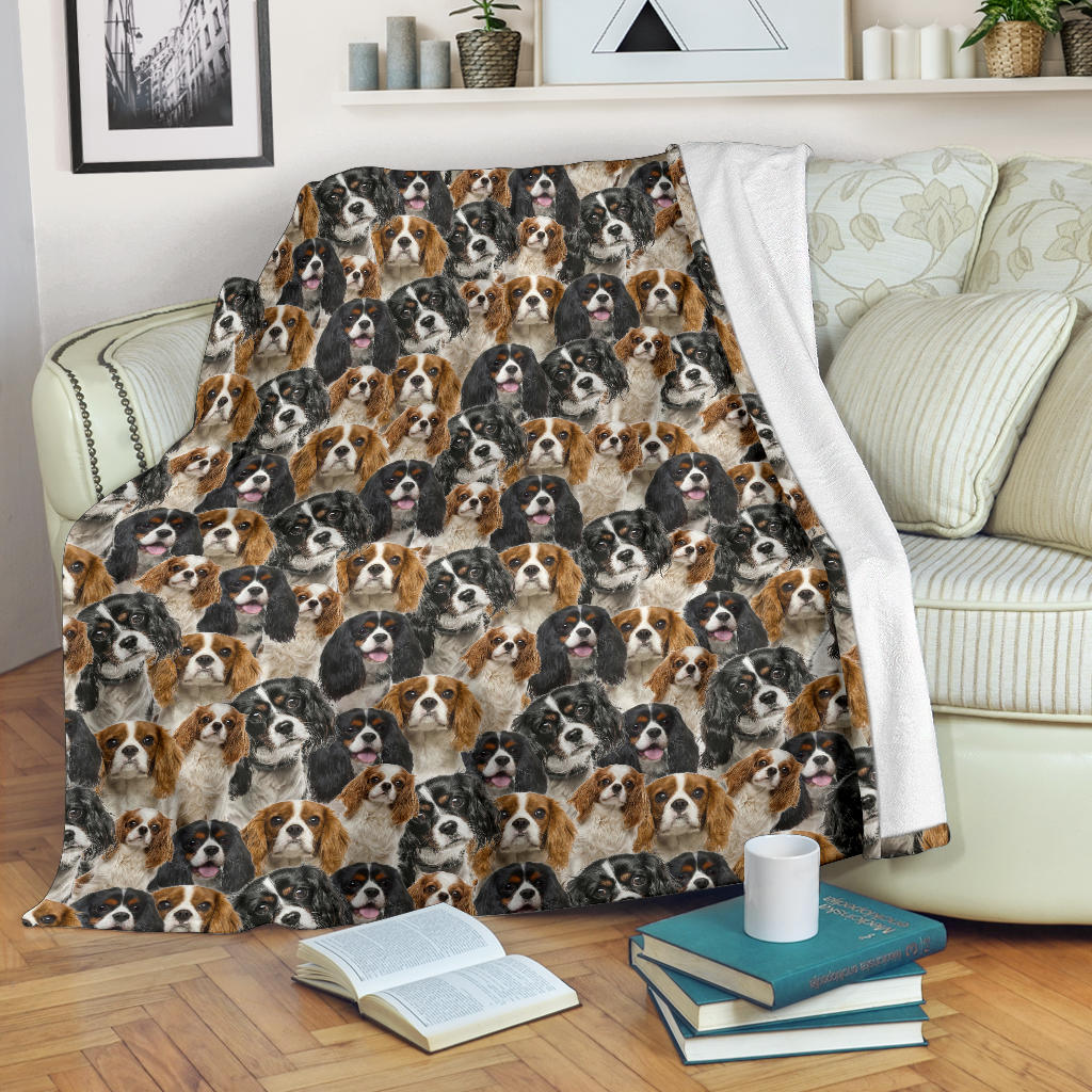 Cavalier King Charles Spaniel Full Face Blanket