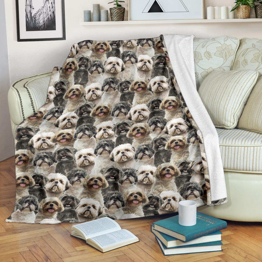 Shih Tzu Full Face Blanket