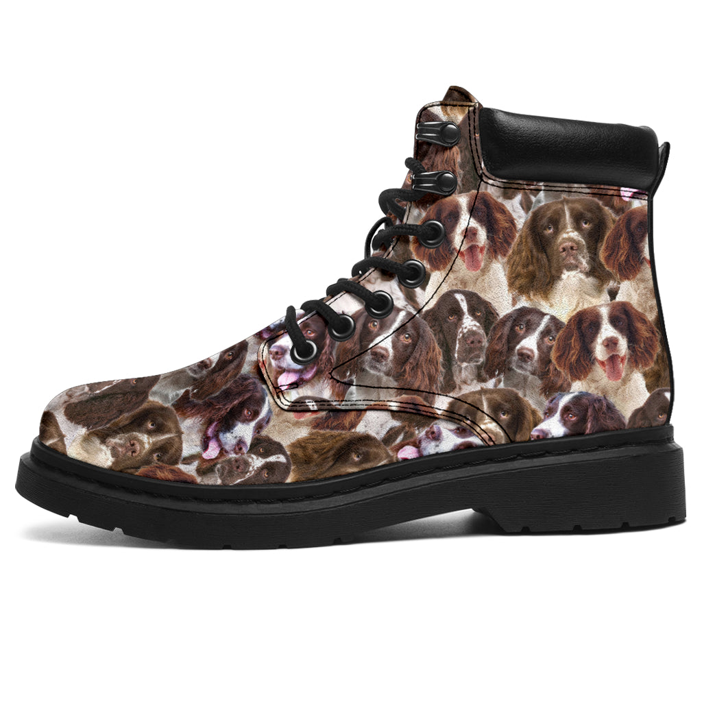 English Springer Spaniel Full Face All-Season Boots