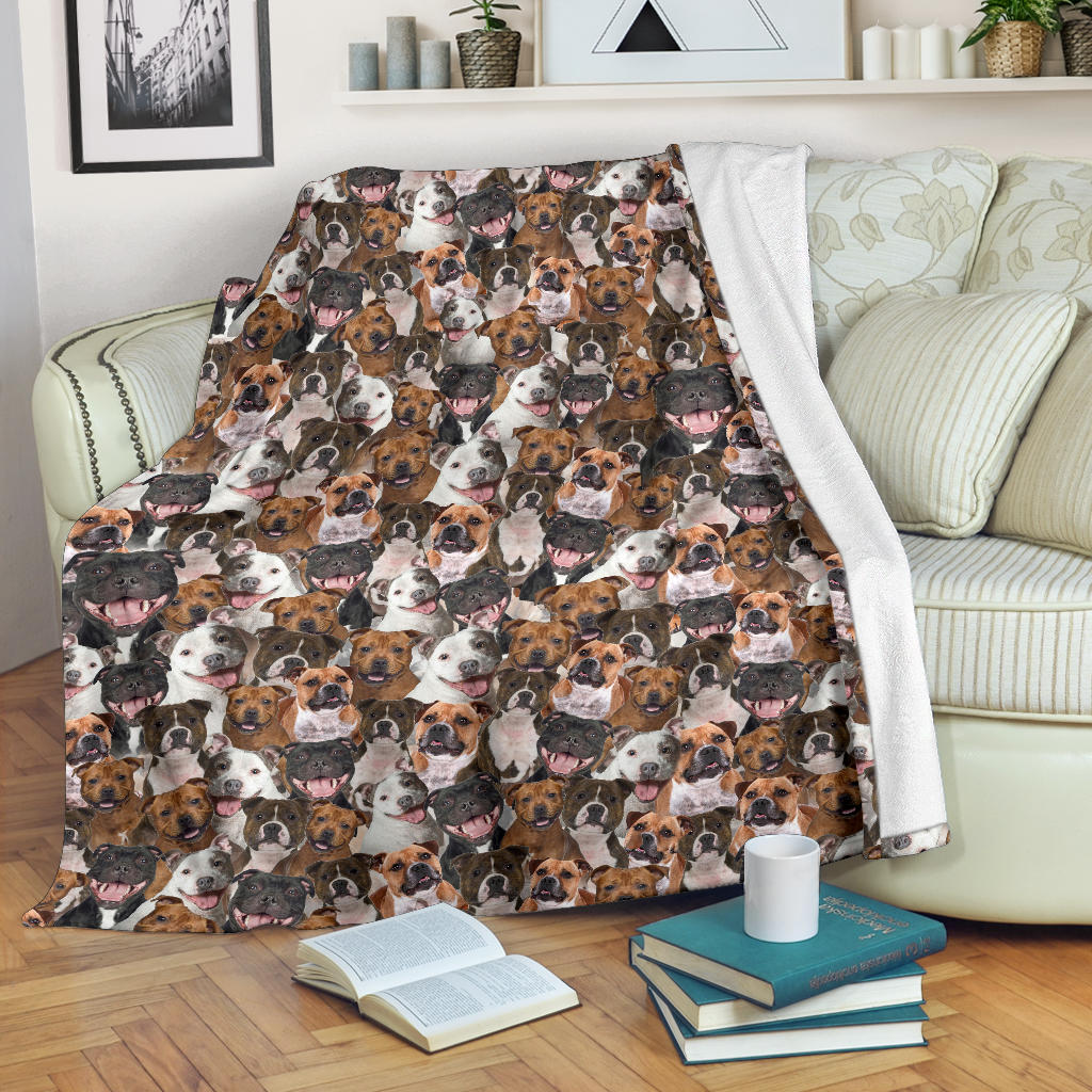 Staffordshire Bull Terrier Full Face Blanket