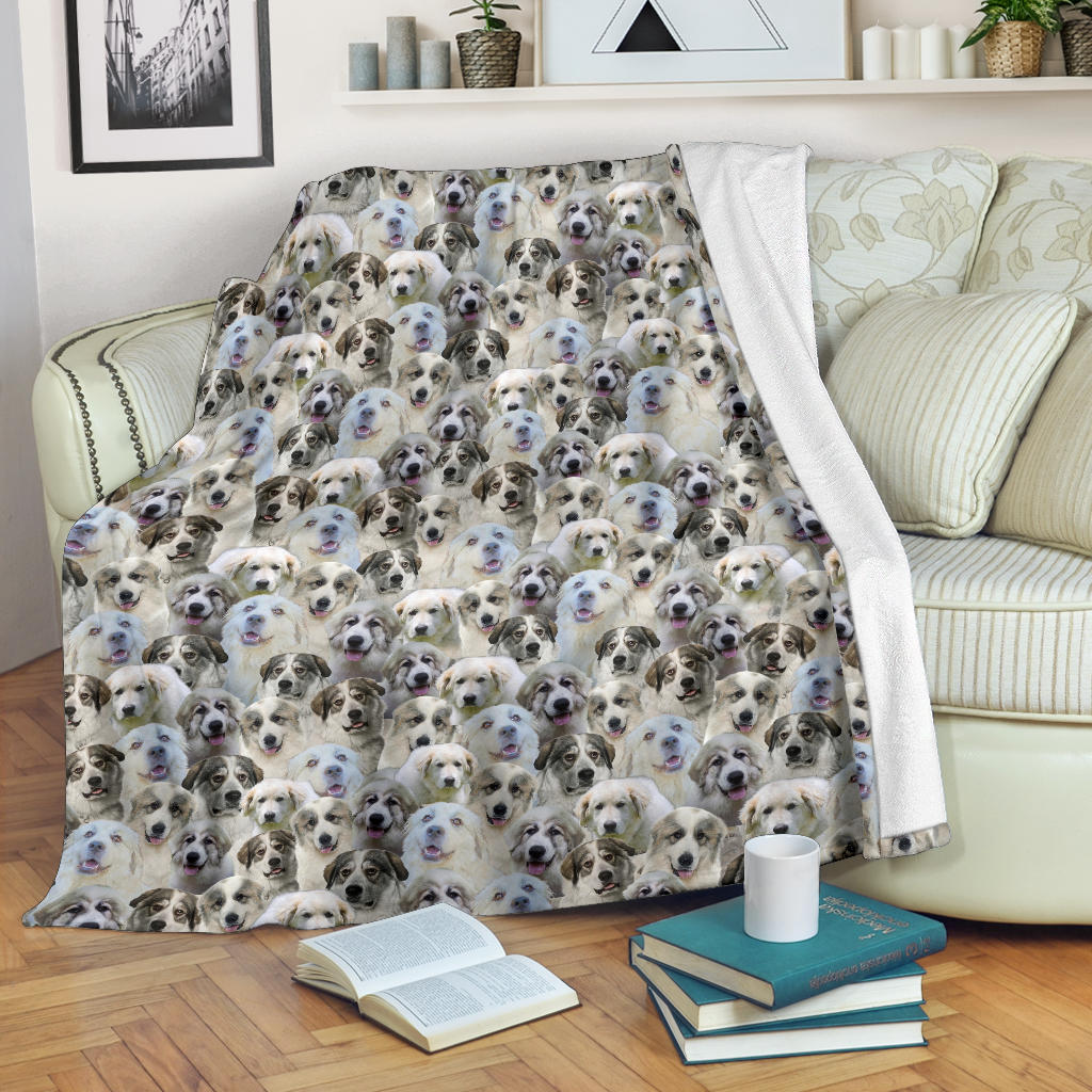 Great Pyrenees Full Face Blanket