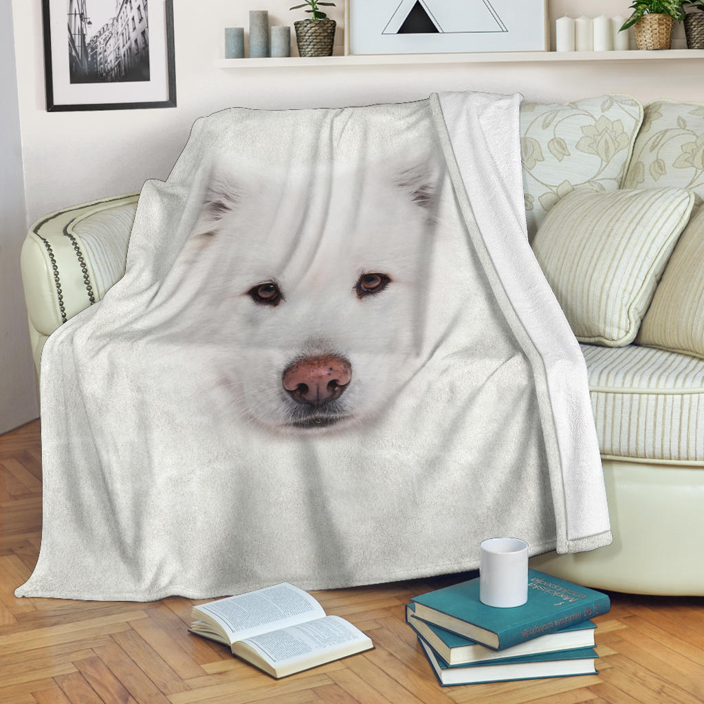 Samoyed Face Hair Blanket
