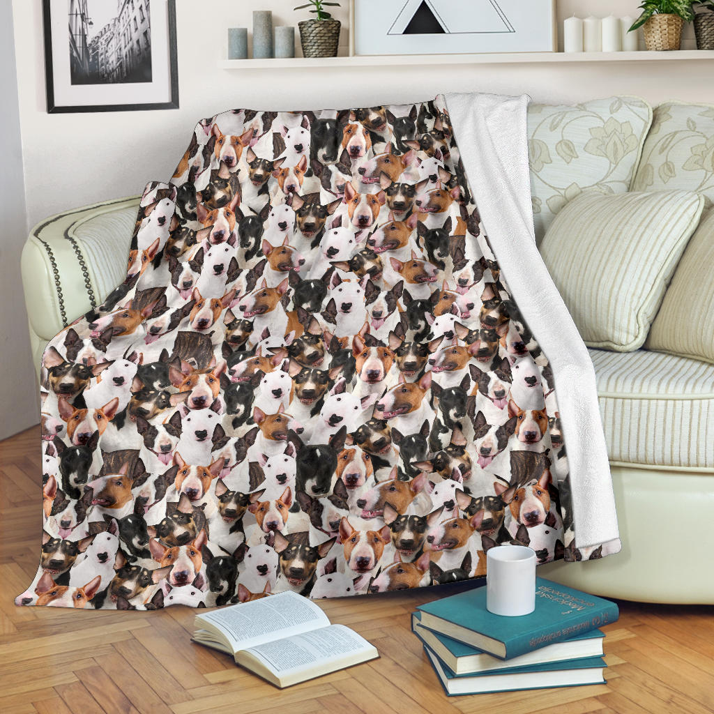 Bull Terrier Full Face Blanket