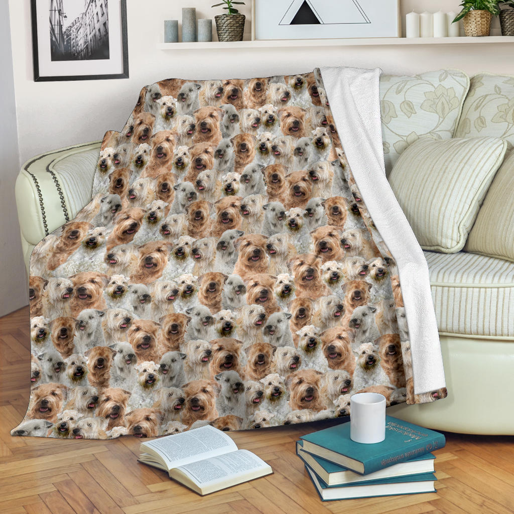 Soft-coated Wheaten Terrier Full Face Blanket