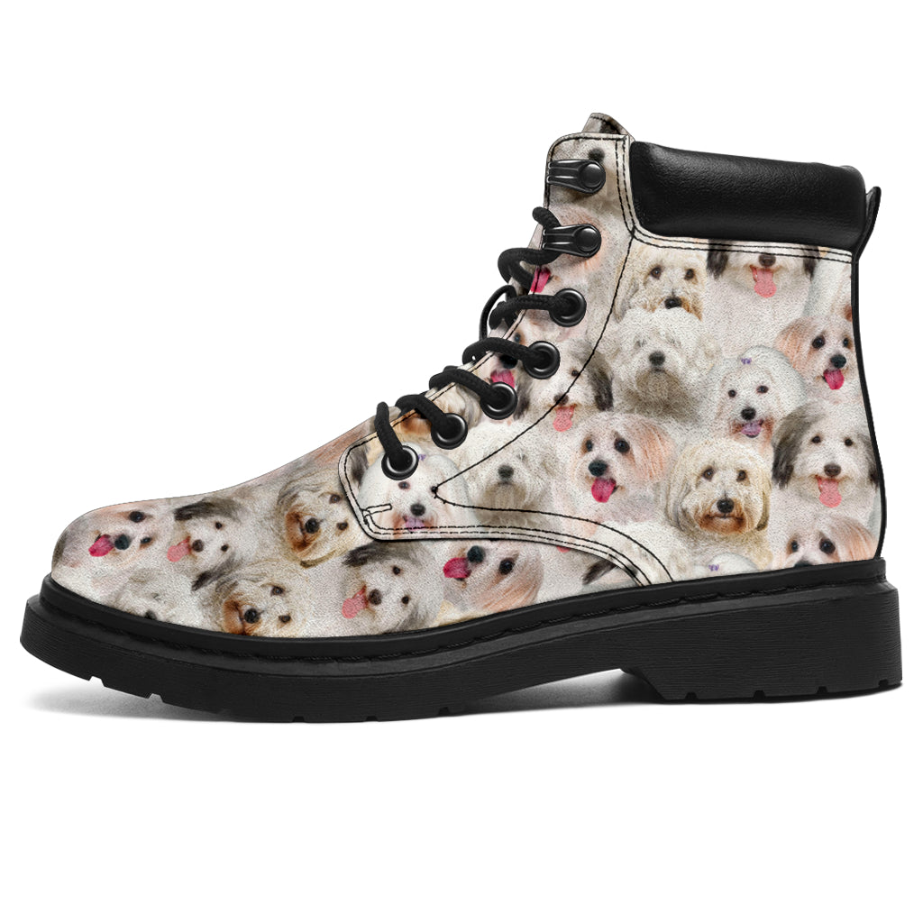 Coton de Tulear Full Face All-Season Boots