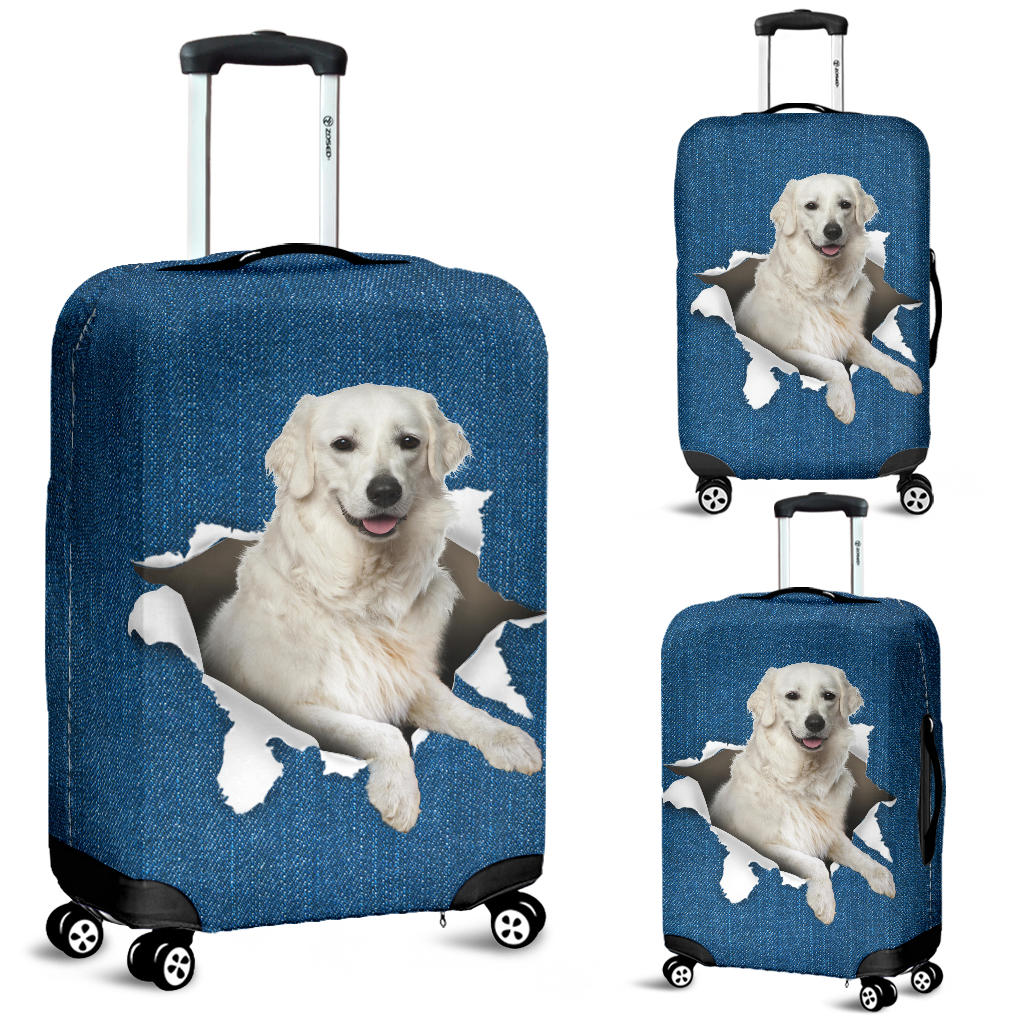 Kuvasz Torn Paper Luggage Covers