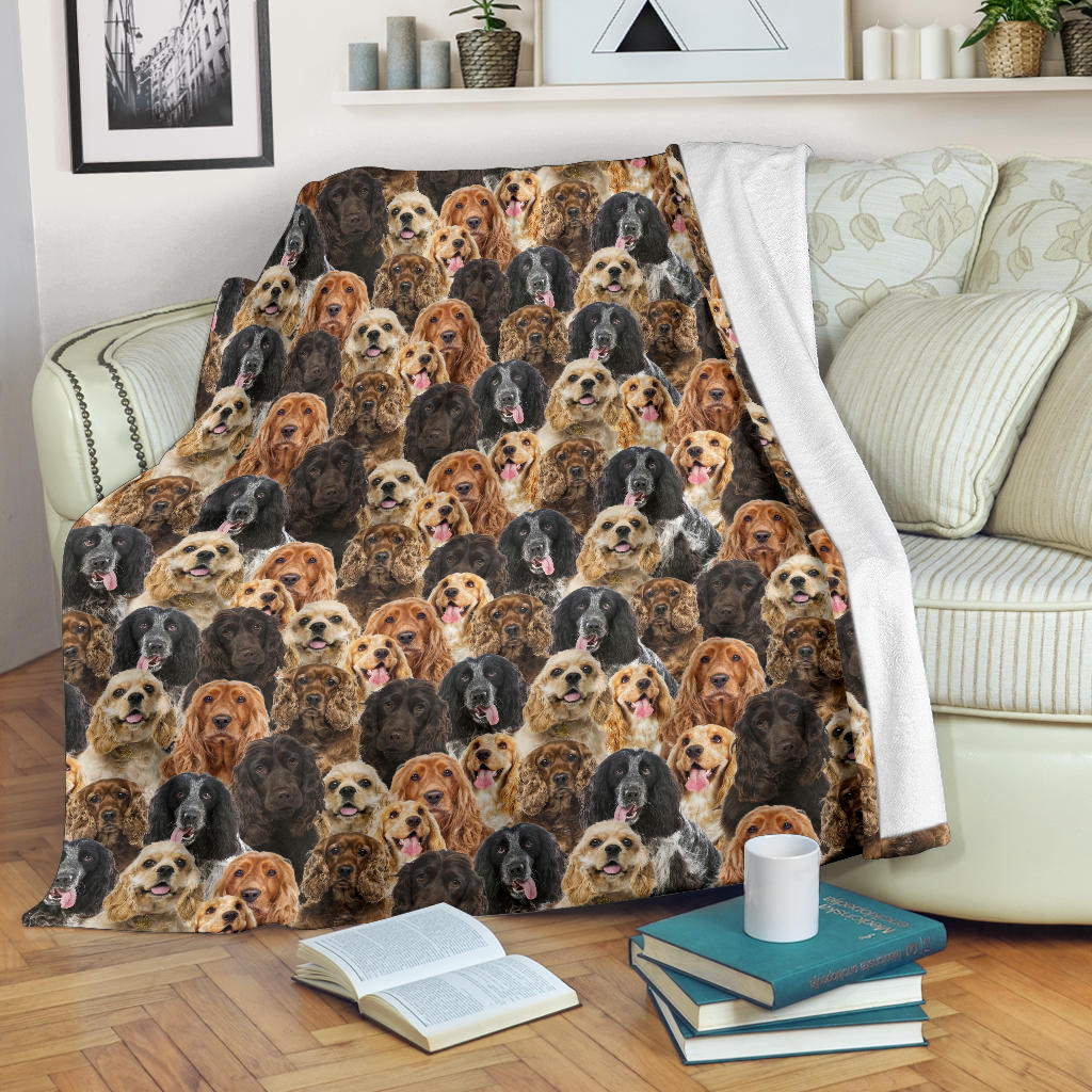 English Cocker Spaniel 2 Full Face Blanket