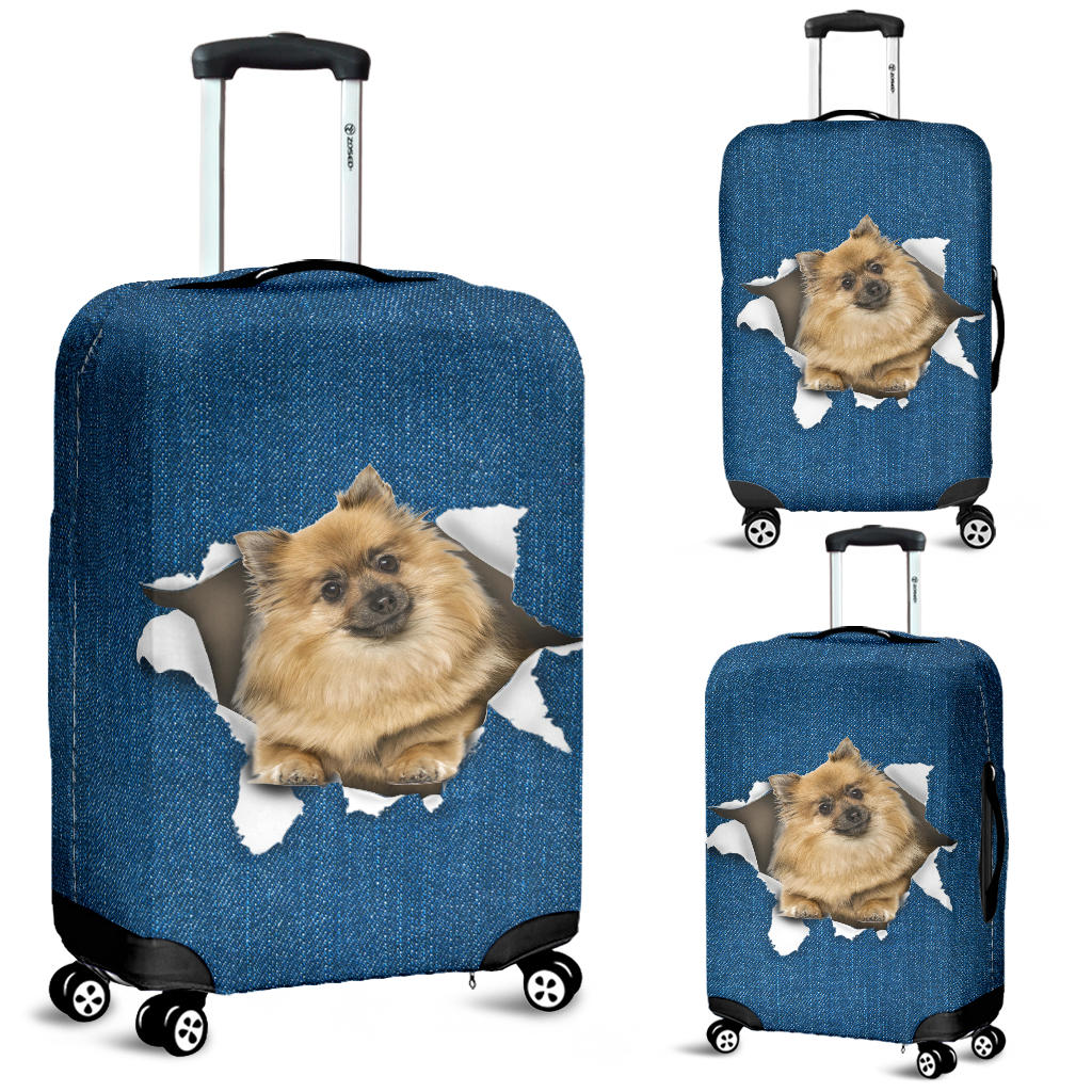 German Spitz Torn Paper Luggage Covers