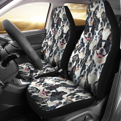 Boston Terrier Full Face Car Seat Covers