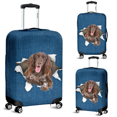 Munsterlander Torn Paper Luggage Covers