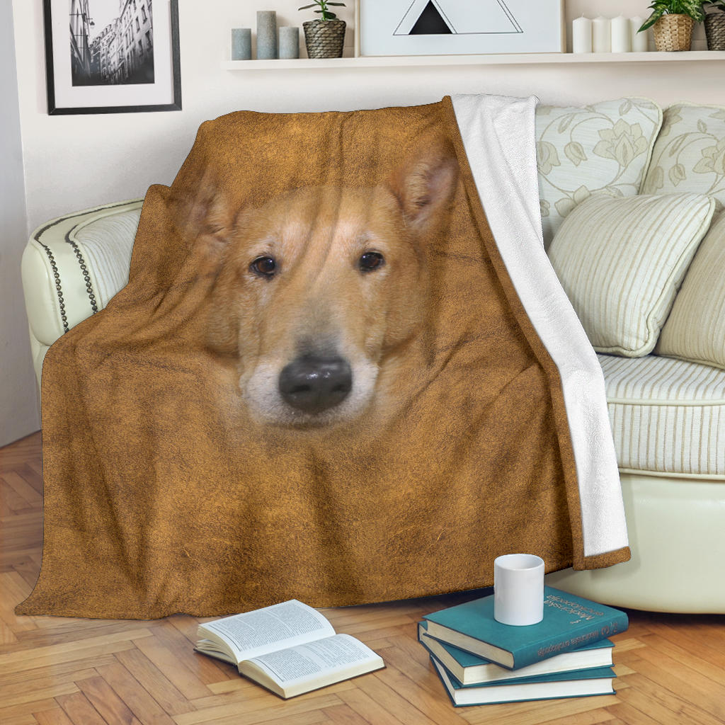 Smooth Collie Face Hair Blanket