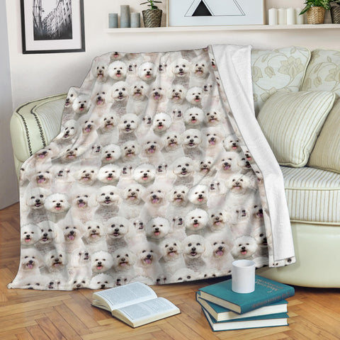 Bichon Frise Full Face Blanket