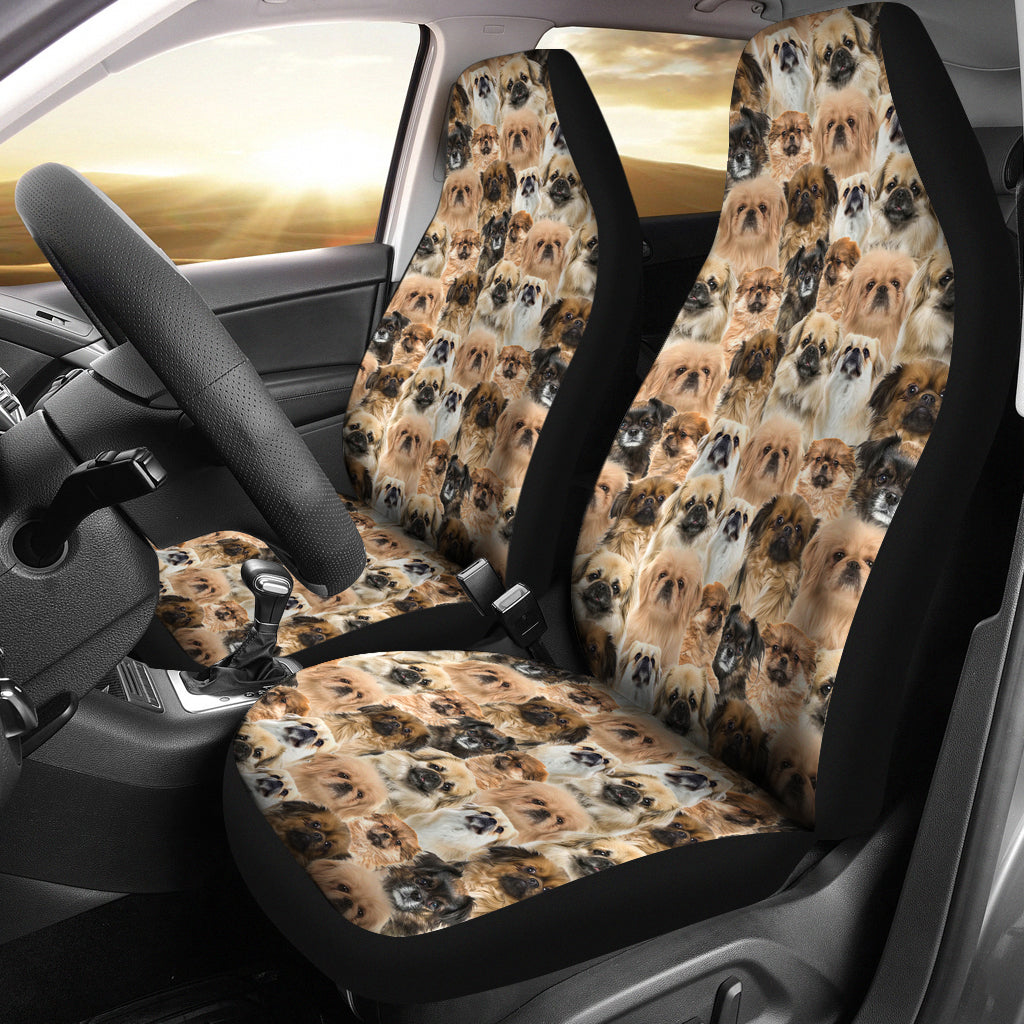 Tibetan Spaniel Full Face Car Seat Covers