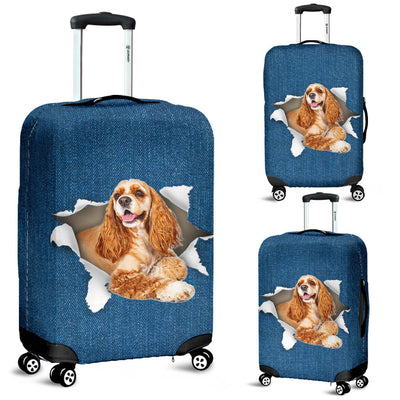 Cocker Spaniel Torn Paper Luggage Covers