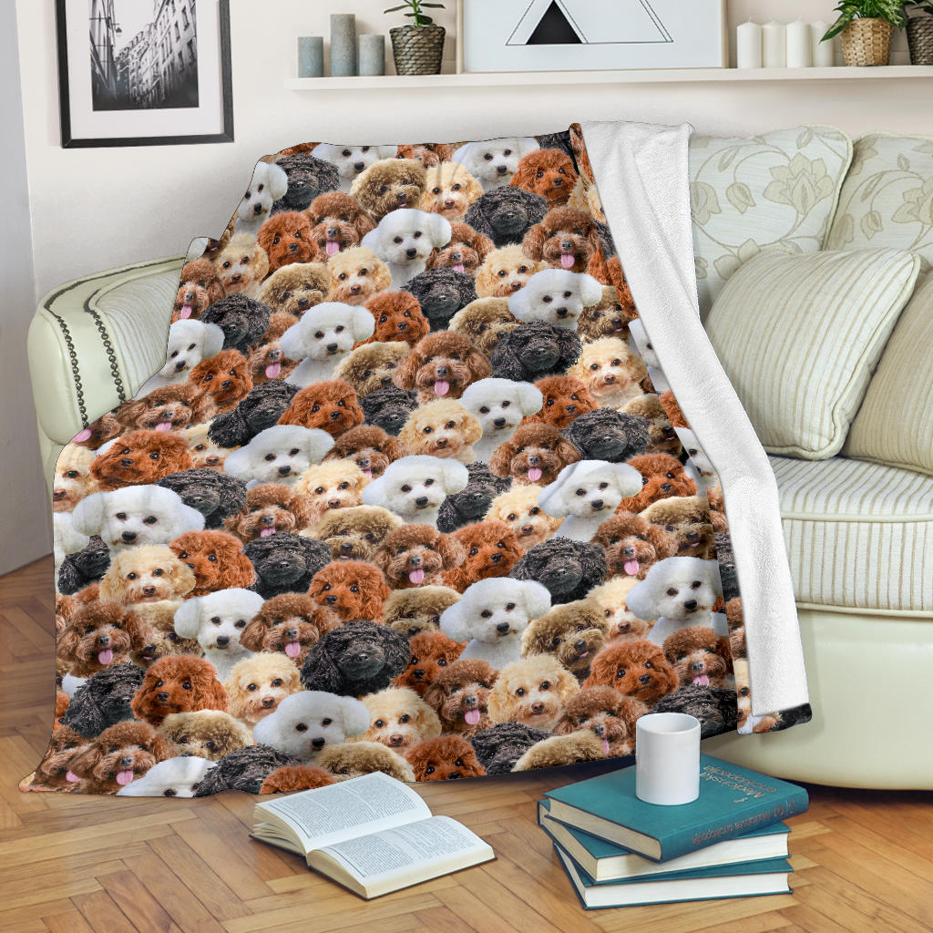Poodle Full Face Blanket