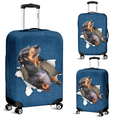 Dachshund Torn Paper 1 Luggage Covers
