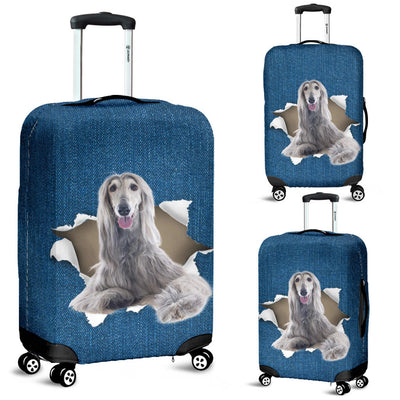Afghan Hound Torn Paper Luggage Covers