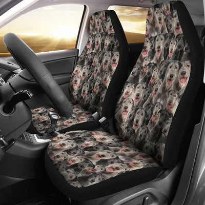 Irish Wolfhound Full Face Car Seat Covers