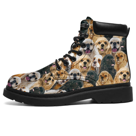 American Cocker Spaniel Full Face All-Season Boots