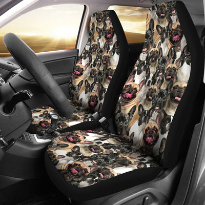 French Bulldog Full Face Car Seat Covers