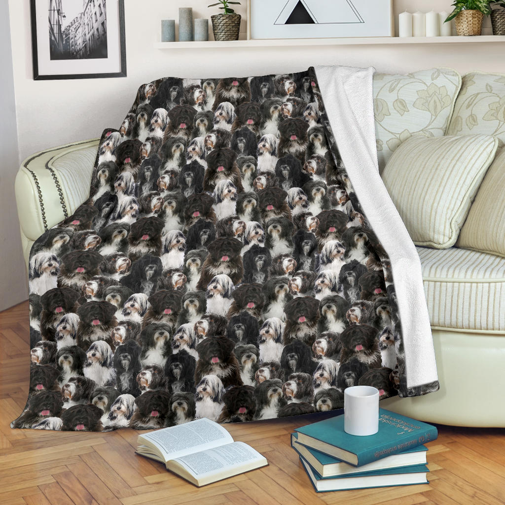 Tibetan Terrier Full Face Blanket